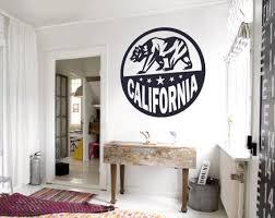 California Bear Emblem Wall Decal Custom Vinyl Art Stickers For Cars Electronics Interiors And Homes