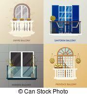 Classic Marble Balcony Fence Design Element Template Edging Creative Landscape Idea Icon On White Background