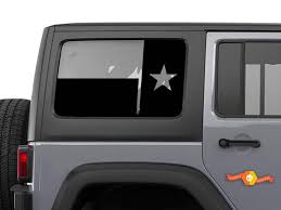 Product State Of Texas Flag Windshield Decal Fits Jku Jeep Wrangler 4 Door Wrangler Window Stickers