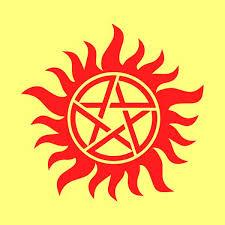 Real Anti Possession Symbol Supernatural Stickers Car Window Truck Mymonkeysticker Com
