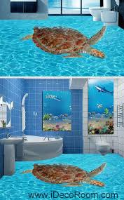 Giant Turtle In The Sea Ocean 00065 Floor Decals 3d Wallpaper Wall Mural Stickers Print Art Bathroom Decor Living Room Kitchen Waterproof Business Home Office G Wall Wallpaper 3d Wallpaper For