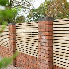 Forest Garden Pressure Treated Contemporary Double Slatted Fence Panel 6 X 3