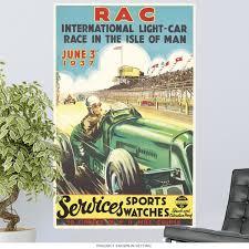 1937 Rac Isle Of Man British Auto Race Wall Decal At Retro Planet
