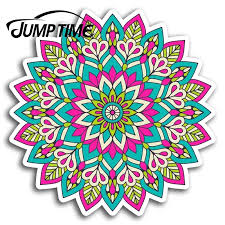 Jump Time For Pink Mandala Indian Vinyl Stickers Sticker Laptop Luggage Gift Decal Rear Windshield Waterproof Car Accessories Car Stickers Aliexpress