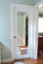 mirror that s mounted on a door