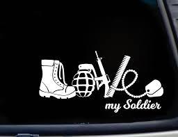 Love My Soldier Decal Sticker 7 Height Decals Stickers Soldier My Love