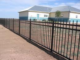 Wrought Iron Railing Fence 3 Rail Panels Spear Top Flush Bottom