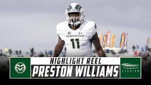 Preston Williams Colorado State Football Highlights - 2018 Season | Stadium  - YouTube