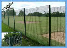 Pvc Coated 3d Curved Metal Fence Panel Heavy Duty Metal Mesh Fencing High Tensile