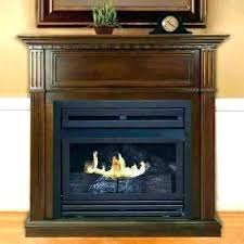 wood burning fireplace box and open