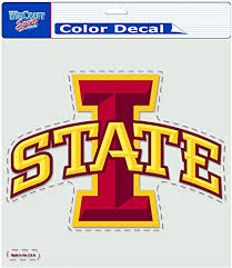 Amazon Com Ncaa Iowa State Cyclones 8 By 8 Inch Diecut Colored Decal Sports Fan Decals Sports Outdoors
