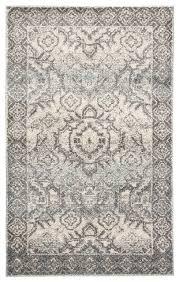 dasha medallion blue gray area rug