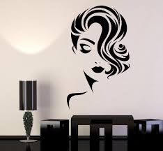 Girl Face Wall Decal Removable Wallpapers For Beauty Salon Room Wall Decor Barbershop Wall Vinyl Sticker Decals For Home Decorating Decals For Home Walls From Onlybrand 14 28 Dhgate Com