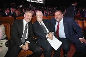 George Clooney, Ruben Vardanyan, Vartan Greogrian - Ruben Vardanyan Photos  - 100 Lives in Armenia - April 24 Prize Ceremony - Zimbio
