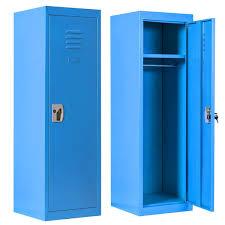 Locker For Kids Metal Locker For Bedroom Kids Room Steel Storage Lockers For Toys Clothes Sports Gear 49 Inch Blue Walmart Com Walmart Com