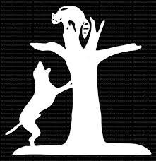 Treed Coon Raccoon Hunting Window Decal