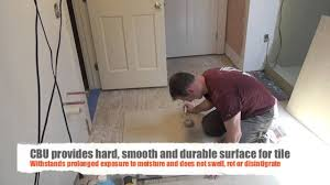 installing tile underlayment