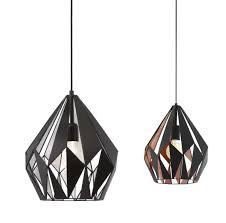 carlton 1 light pendant black with