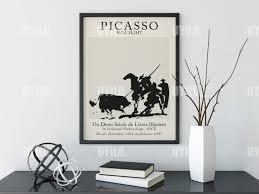 Picasso Exhibiton Bull Fight Wall Art Print