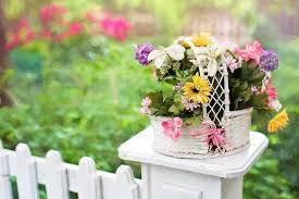 Flower Basket Flowers Blooms Blossoms Fence Post Fence White Picket Fence Garden Basket Floral Spring Pikist