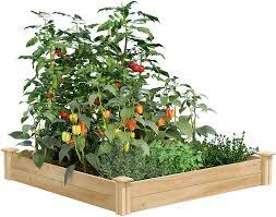 Amazon Com Greenes Fence Raised Garden Bed 48 L X 48 W X 7 H Cedar Garden Outdoor