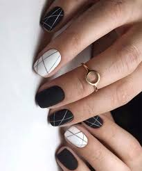 black nail art designs to look awesome