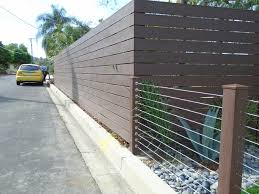 Endwood Vinyl Semi Privacy Fence Stainless Steel Cable Railing Modern Garden Los Angeles By Fence Factory Houzz Uk