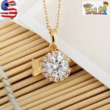 gold plated big round crystal belly
