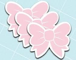 Pink Bow Sticker Etsy