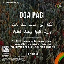 contoh soal dan materi pelajaran doa pagi islam