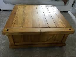 solid mango coffee table blanket box
