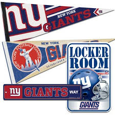 Official New York Giants Wall Decor Home Office Wall Sign Banner Nflshop Com