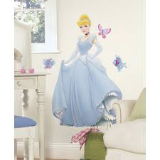 Roommates Disney Princess Cinderella Peel Stick Giant Wall Decal Home Home Decor Wall Decor Tapestries Appliques