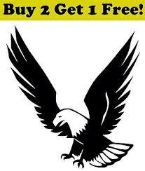 Bald Eagle Vinyl Decal Sticker Bumper Window Wall America Usa Pride Patriotic 2 98 Picclick