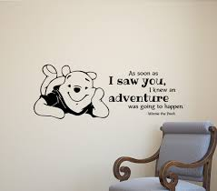 Winnie The Pooh As Soon I Saw You Adventure Quote Wall Decal Vinyl Sticker 528 For Sale Online