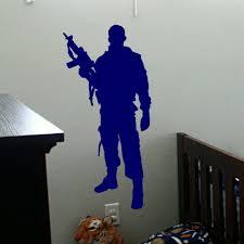 Military Army Soldier Wall Sticker Guns Wall Decal War Industry Boys Bedroom Decoration Wall Mural Military Arms Paper D 117 Wall Decals Wall Muralwall Sticker Aliexpress
