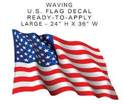American Flag Waving X Large Camper Rv Sticker 3ft Wide Decal Patriotic Us Ebay