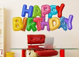 Happy Birthday Balloon Wall Decal