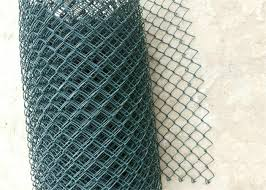 Black Vinyl Coated Steel Chain Wire Fence Cyclone Wire Mesh Fence