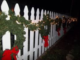 A Christmas Fence Holiday Decor Christmas Decorations Outdoor Christmas Decorations