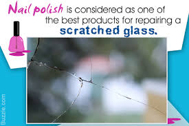 how to repair scratched glass using