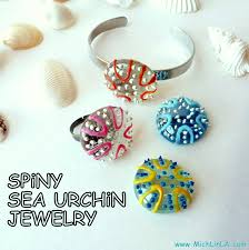 handpainted glass sea urchins