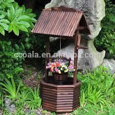 wishing well garden display planter pot