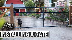 How To Hang A Gate Youtube