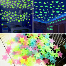 200x Glow In The Dark Stars Wall Sticker Kids Nursery Bedroom Room Ceiling Decor For Sale Online