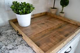 ottoman tray made from pallet wood