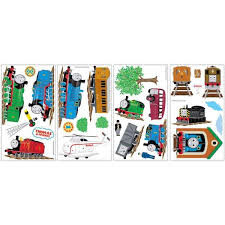 Roommates 5 In X 11 5 In Thomas And Friends Peel And Stick Wall Decals 27 Piece Rmk1035scs The Home Depot