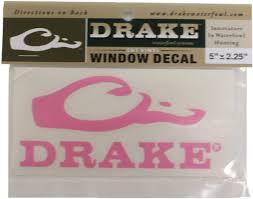 Amazon Com Drake Waterfowl 5 Logo Flat Decal Pink Automotive
