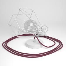 pendant lamp with diamond cage