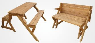 a garden bench that unfolds into a